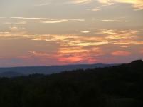 ... et coucher de soleil sur la Corrèze